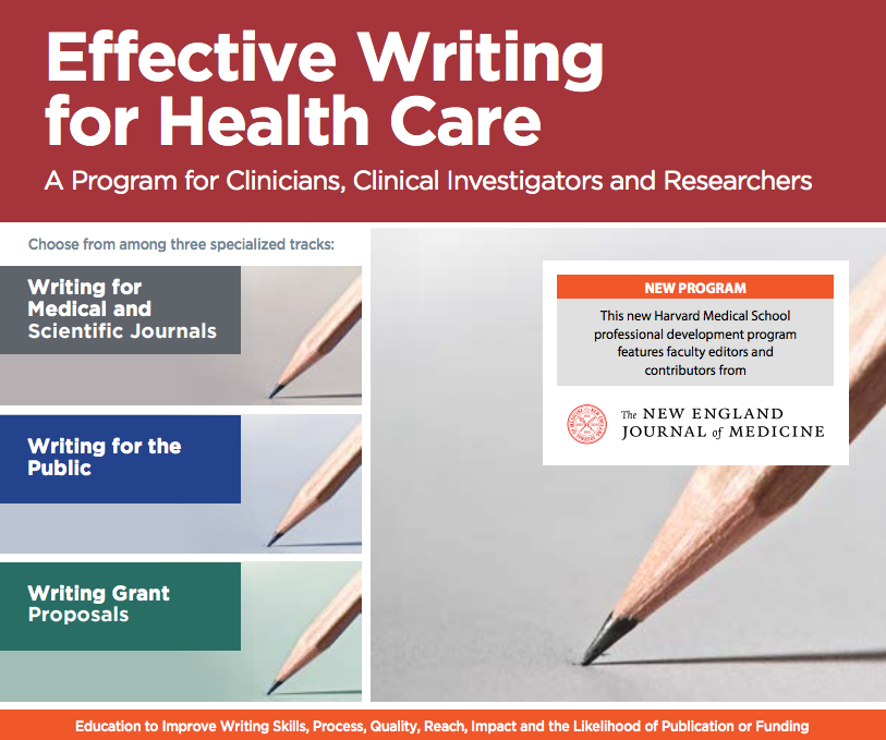 Effective Writing for Health Care brochure cover