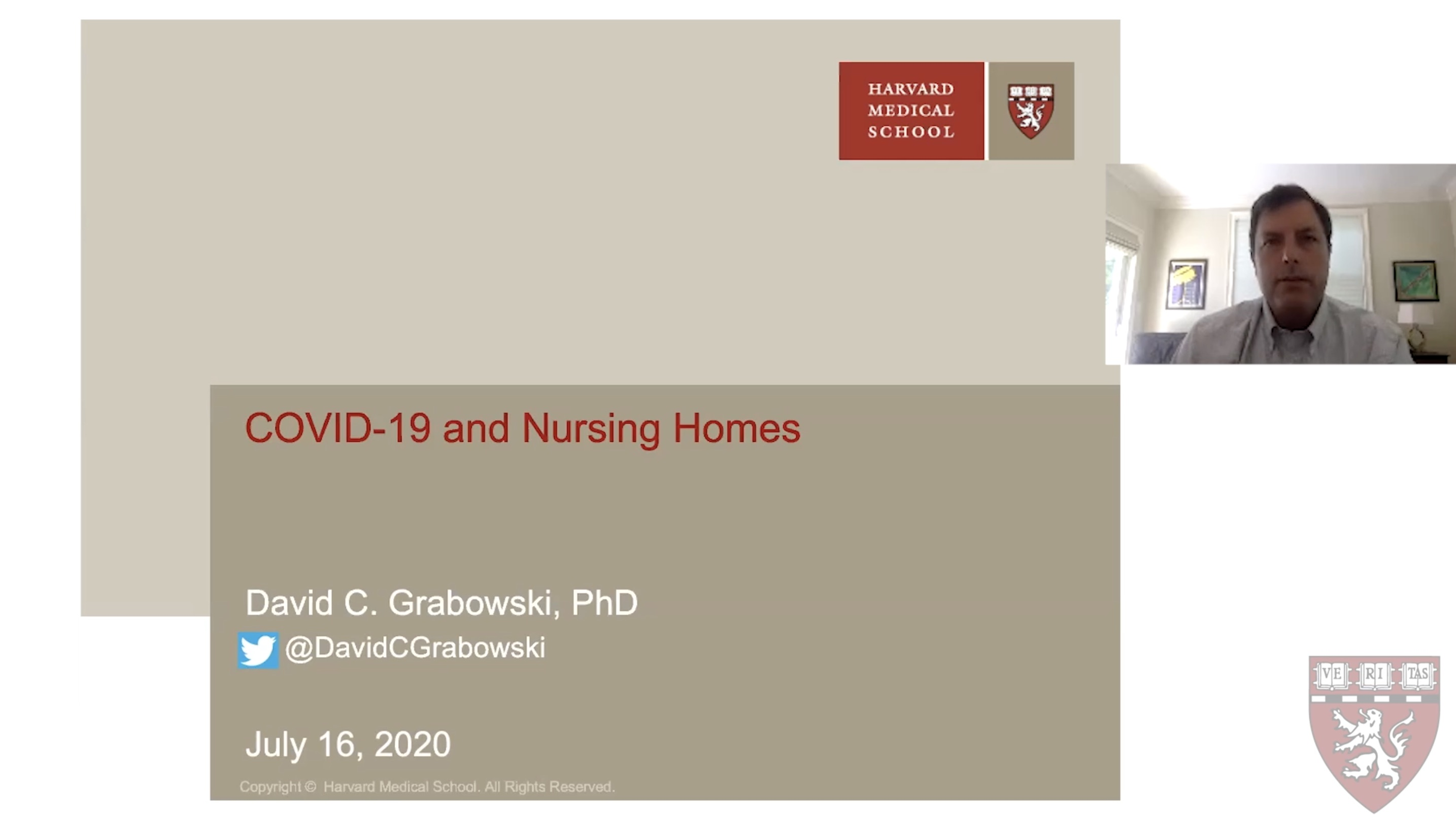 COVID and Nursing Home powerpoint title slide