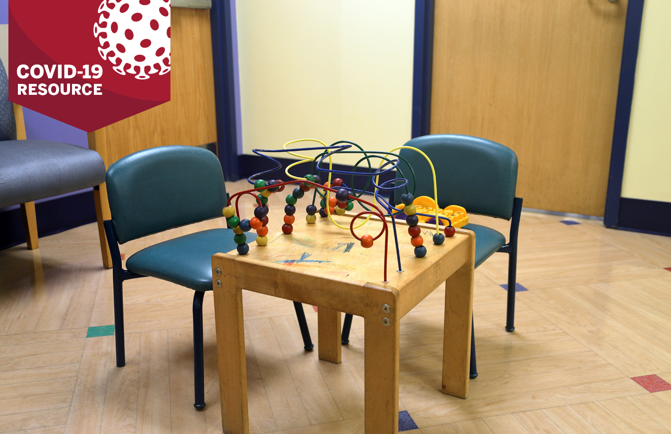 Pediatrician's office waiting room